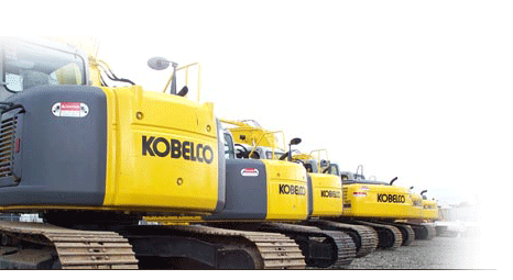 picture of kobelco machines